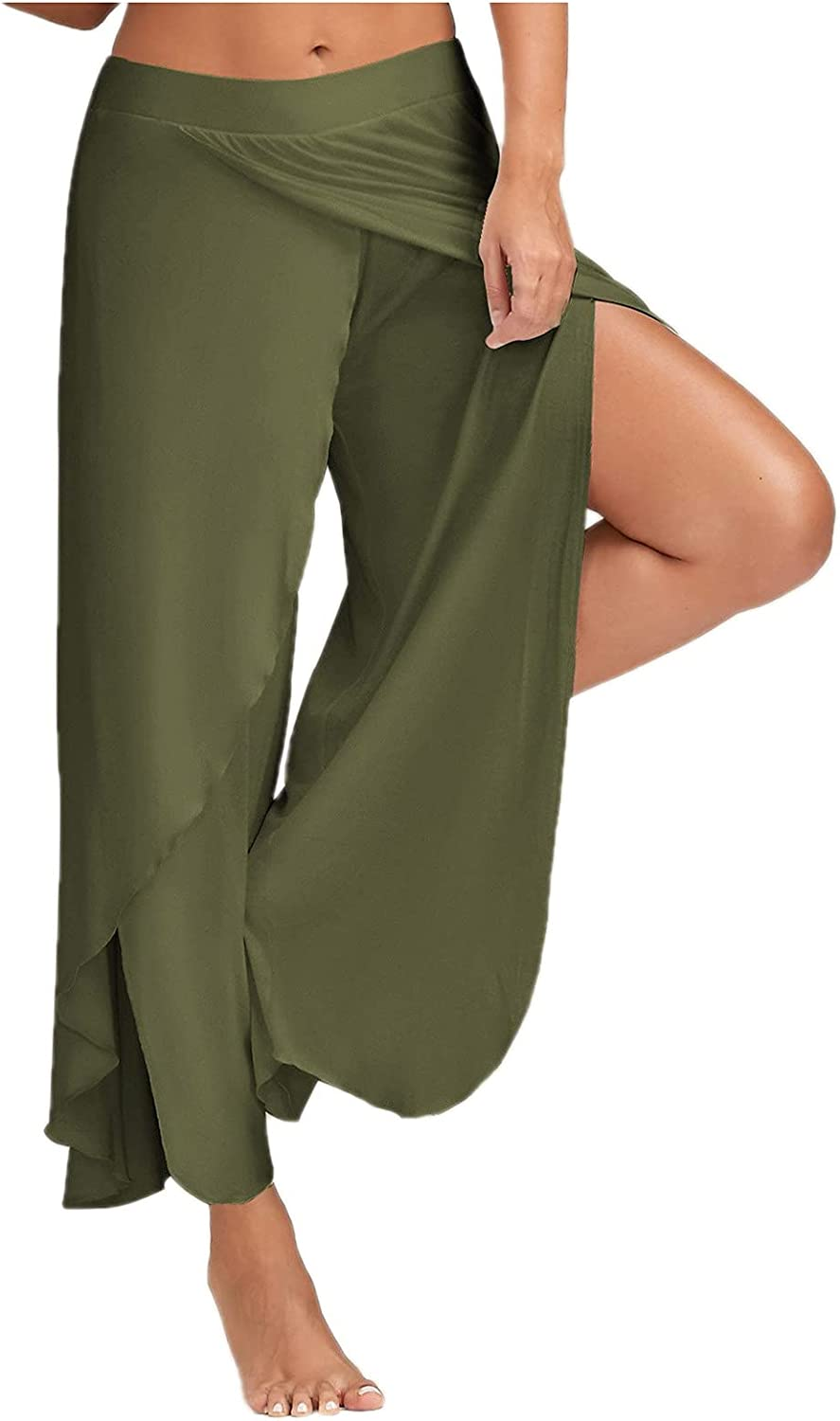 YUNDAN High Slit Selling Harem Pants for Womens Trou Solid Max 48% OFF Casual Hippie