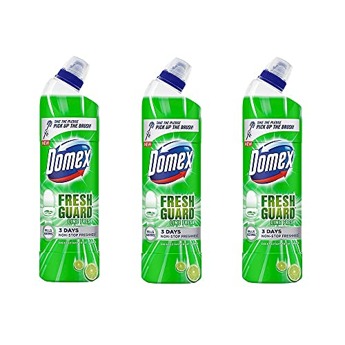 [Apply coupon] Domex Fresh Guard Lime Fresh Disinfectant Toilet Cleaner, 750 ml (Pack of 3)