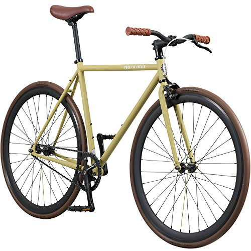 Why Choose Pure Fix Original Fixed Gear Single Speed Bicycle, Uniform Sand/Black/Brown, 58cm/Large