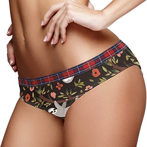 Bennigiry Lindo bebé perezoso flores rama panty ropa interior para las mujeres algodón suave de las mujeres breve