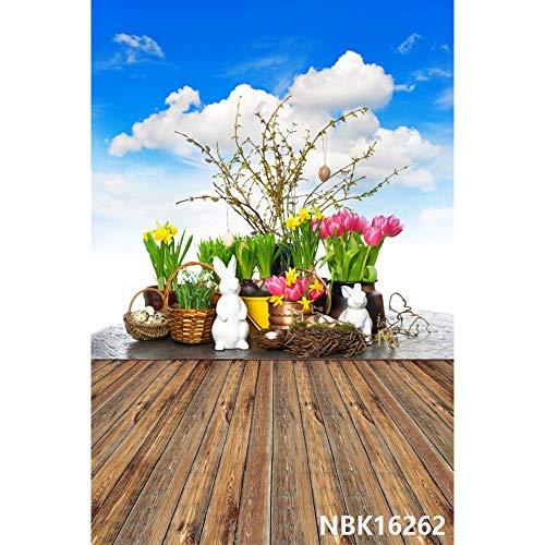 Fondo de fotografía de Retrato de bebé con Suelo de Madera de Flores descoloridas Fondo de fotografía de Estudio fotográfico A14 9x6ft / 2,7x1,8 m