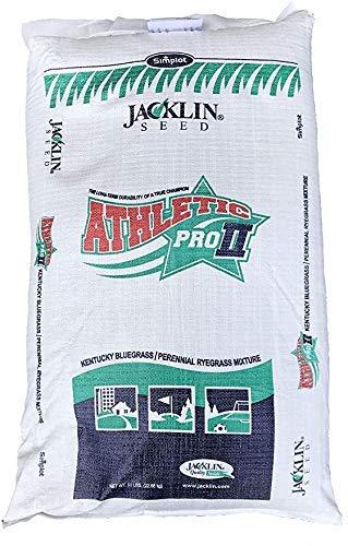Jacklin Seed Athletic Pro II   50% Kentucky Bluegrass, 50% Perennial Ryegrass   Certified Grass Seed (50 lbs (10,000 sq ft))
