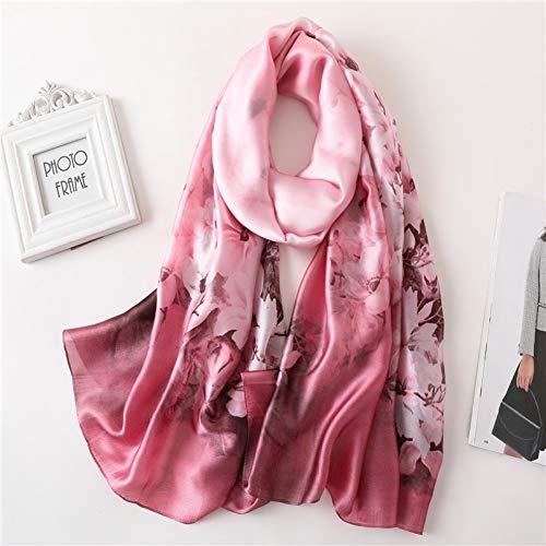 BINGSL Sjaals Wraps, vrouwen sjaal Luipaard Print zijden sjaals voor dame sjaals en groot formaat strand stoles bandana foulard