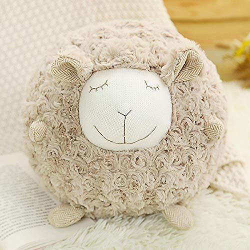 Teddy Toy Kawaii Schaf Lamm für Kinder Kinder Geschenk Weiche Gefüllte Puppen Baby Kinder Geburtstagsgeschenke Kindertag Geschenk Home Decor (Weiß, Braun, Rose) (30 cm) 30 c (Color : Brown)