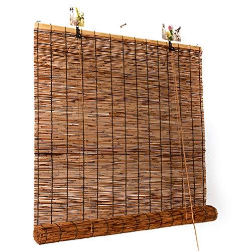 ZHUOZ1T Persianas de caña de bambú, Cortinas de caña Natural, persianas enrollables Romanas Retro, adecuadas para Interiores/Exteriores, decoración Personalizada(100x220cm/39x87in)