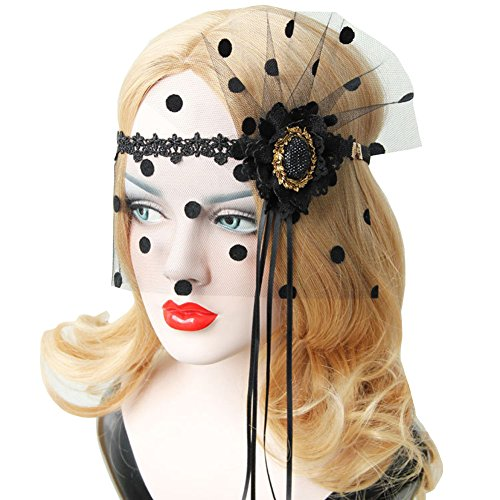 Halloween Girls Women Tassel Mask Black Sexy Lady Lace Mask With Red Rose Flower Cutout Eye Mask for Masquerade Party…