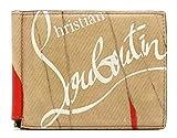 [クリスチャン ルブタン] Christian Louboutin マネークリップ ウォレット 2つ折 札入れ 財布 カードケース レザー 3185051 [中古]