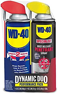 WD-40 Dynamic Duo, Spray Lubricant, 12 OZ and WD-40 Specialist Rust Release Penetrant, 11 OZ