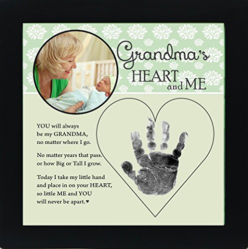 Grandma's Heart Baby Picture with Poem and Handprint