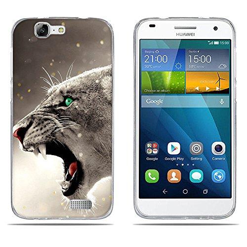 DIKAS Funda para Huawei Ascend G7 (L01 L03 C199) Carcasa de Silicona Transparente TPU, Protectora Case Bumper Flexible de Goma de Altisima Calidad para Huawei Ascend G7 (L01 L03 C199)