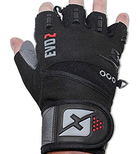 skott 2020 Evo 2 Weightlifting Gloves with Integrated Wrist Wrap Support-Double Stitching for Extra Durability-Get Ripped with The Best Body Building Fitness and Exercise Accessories (Large)