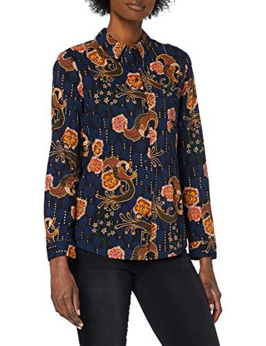Scotch & Soda Regular Fit Cotton Viscose Shirt Camisa, Combo A 0217, M para Mujer