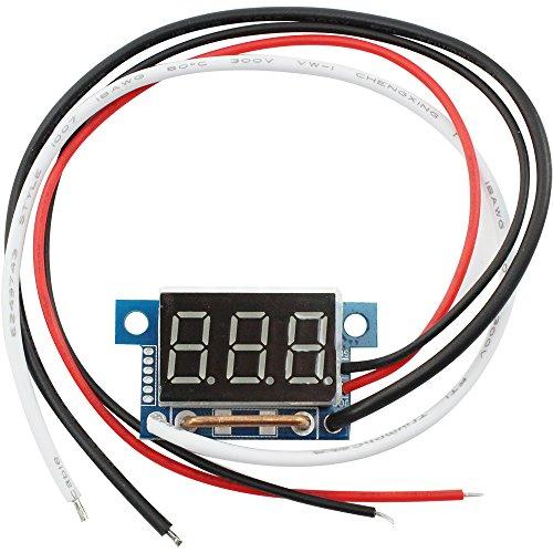 com-four® Stromstärke Messgerät Amperemeter, 10A, mit Digital LED Anzeige