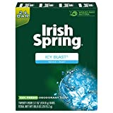 Irish Spring Men's Deodorant Soap Bar, Icy Blast - 24 Count