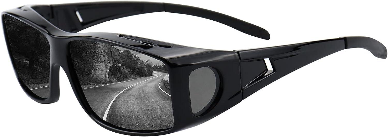 Max 88% OFF Superlatite Fit Over Day Night Vision Sunglas Polarized Glasses Wraparound