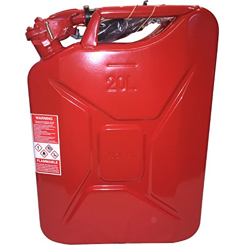 The Only Legal Red NATO Steel Fuel gas diesel Cans: Spouts Included