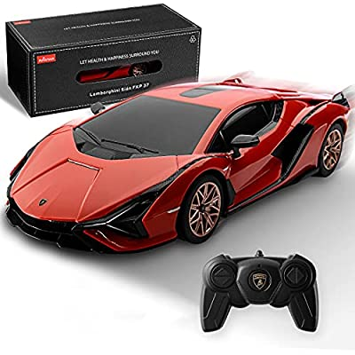 BEZGAR X RASTAR Licensed RC Series, 1:24 Scale Remote Control Car Lamborghini Sián FKP 37 Electric Sport Racing Hobby Toy Car Model Vehicle for Boys and Girls Teens and Adults Gift (Red) by RASTAR