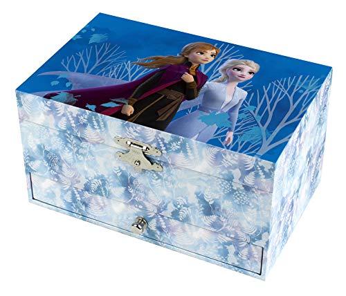 Trousselier - DISNEY - Die Eiskönigin 2 - Frozen 2 - Musikschmuckdose - Spieluhr - Ideales Geschenk für junge Mädchen - Musik aus dem Film Lass jetzt los - Farbe blau