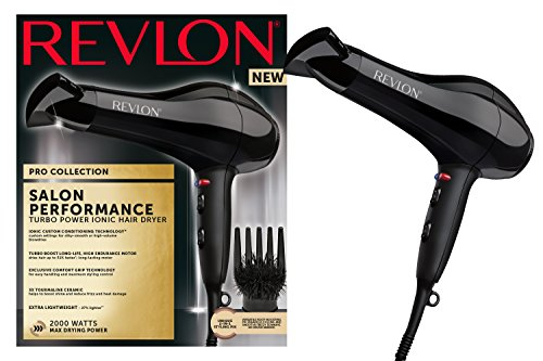 Revlon Pro Collection Salon Performance Turbo Ionic Super Ligero Secador de pelo, 2000 W