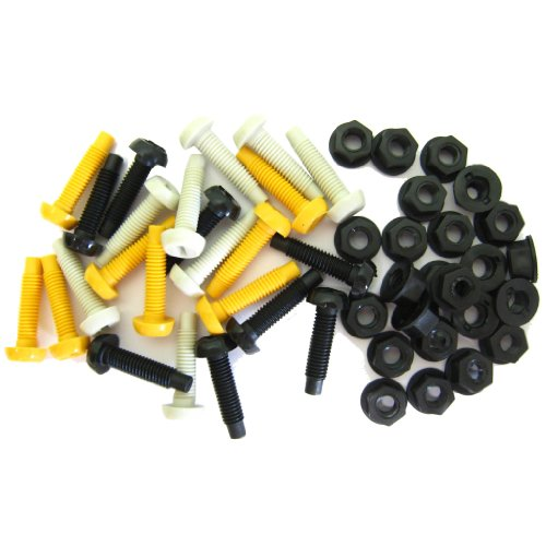 All Trade Direct 48 Pcs Long Number Plate Bolts Nuts Caps Screws Fitting