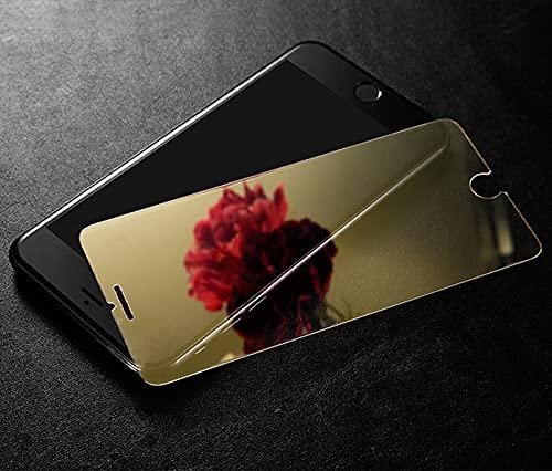 Película de vidrio templado con revestimiento de espejo colorido para iPhone X XR XS Max 6 6s Plus 8 7 Plus Protector de pantalla Película protectora endurecida, para iphone XS Max, dorado