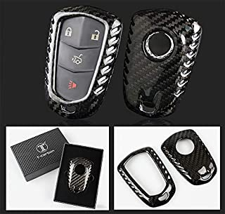 Luxury Real Carbon Fiber Snap on Case Fits for Cadillac CTS ATS V Smart Key Fob