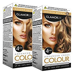 Glamourize Haarfärbemittel für Damen, natürlich, schön, langlebig, sicher auf der Kopfhaut, 2 Stück