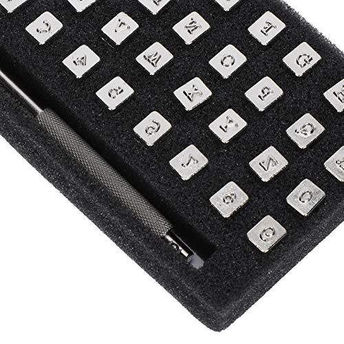 YOIM Kit de patrón de Sello de Alfabeto, Herramienta de Sello de Cuero numérico cómoda y fácil de sostener para el hogar para Regalos