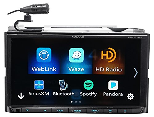 Kenwood DDX775BH In-Dash 2-DIN 6.95' Touchscreen DVD Receiver with Spotify, Waze, YouTube and Pandora via Weblink