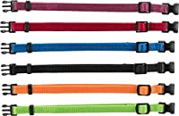 To tell puppies apart Fully adjustable Safe due to safety closure and without D-ring These collars fit neck sizes from 17cm up to 25cm webbing tape