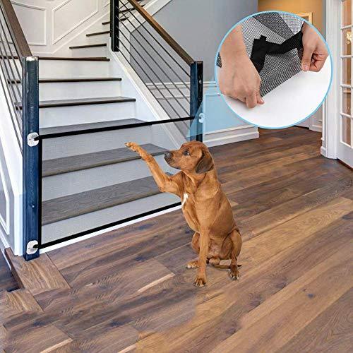 KAISIMYS Draagbare Vouwbeveiliging Hek voor Huisdier Hond, Child Safety Net,Mesh Gate Geïsoleerde Gauze Indoor en Outdoor Installeer Overal 70.8