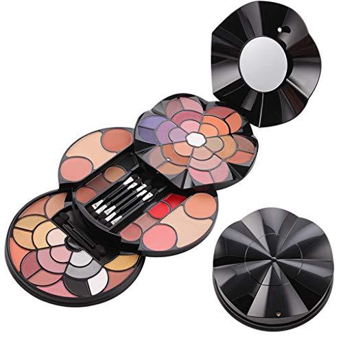 Shogpon Schminkkassette Professionelle 43 Farben Eyeshadow Lidschatten-Palette Makeup Kit mit 4 Rouge, 4 Lipgloss, 4 Augenbrauenpuder und 2 Gesichtspuder