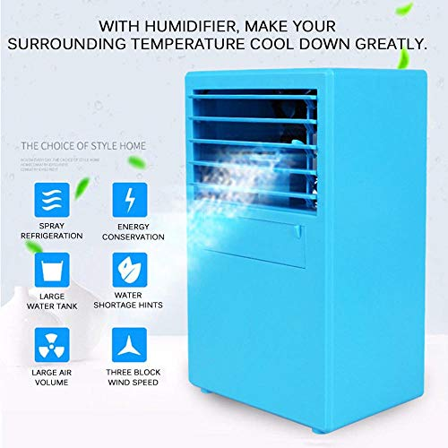 DYWLQ Mini climatiseur portatif USB Mini climatiseur portatif Climatiseur portatif, Ventilateur de Bureau Personnel Ventilateur de Bureau USB Compact Eva
