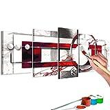 murando - Malen nach Zahlen Abstrakt 150x60 cm 5 TLG Malset mit Holzrahmen auf Leinwand für Erwachsene Kinder Gemälde Handgemalt Kit DIY Geschenk Dekoration n-A-0624-d-m