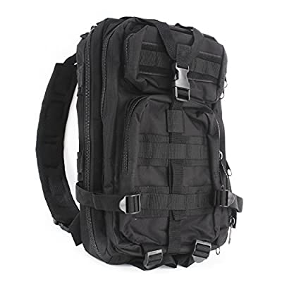 "MediTac Tactical Assault Pack - First Aid Rucksack - 18"" Military MOLLE Backpack (Tactical Black)"