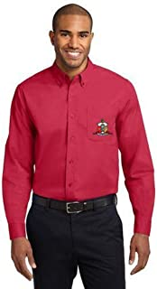 Kappa Alpha Psi Fraternity Long-Sleeve Button-Down Oxford Shirt w/Crest Patch Pocket