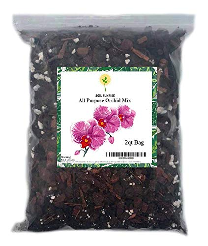 All Purpose 2qt Orchid Mix! Orchid Bark and Perlite, Good Drainage and Water Retention!