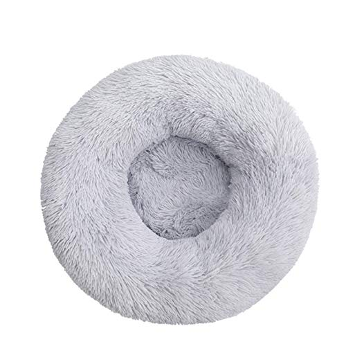 MWQCEW Morbido Cuscino per Cani Peluche Calm Letto Pet Kennel è Super Morbido e soffice e Confortevole, Adatto per Una Grande casa di Gatto per Cuccioli e Gattini (Color : Light Grey, Size : 70CM)