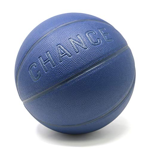 Chance Premium Indoor/Outdoor Basketball - Composite Leather (Sizes: 5 Youth, Size 6, Size 7) (7 Men's Official - 29.5', Navy Blue)