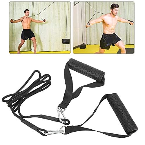 minifinker Cable de Prensa de tríceps, Banda de Resistencia Cuerda de tríceps Aplicaciones amplias para Mejorar Sus Entrenamientos para desarrollar tríceps para Aumentar los músculos del tríceps