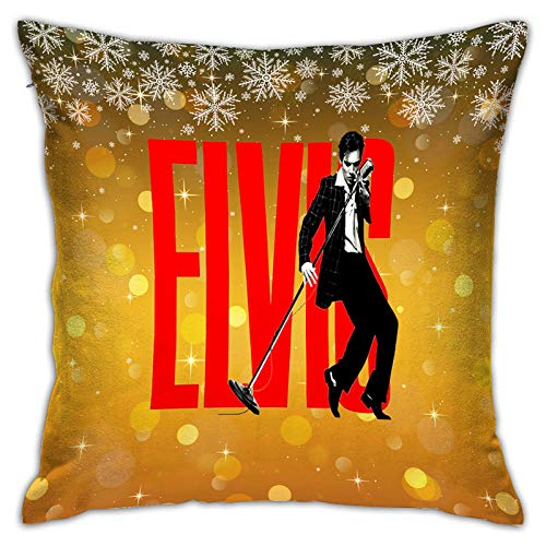 Gypsophila 3D Print Throw Pillow Covers,Elvis Aaron Presley,Decorative Square Cushion Covers Case for Sofa Couch Home Decor 18x18in(45x45cm)