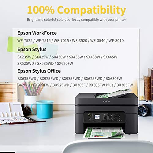 Sizzler T1295 Cartuchos de Tinta para T1291 T1292 T1293 T1294 Epson Compatible con Epson Stylus SX420W SX445W SX425W SX535WD SX235W SX430W SX230 SX435W Office BX305F BX305FW Plus WF-7515