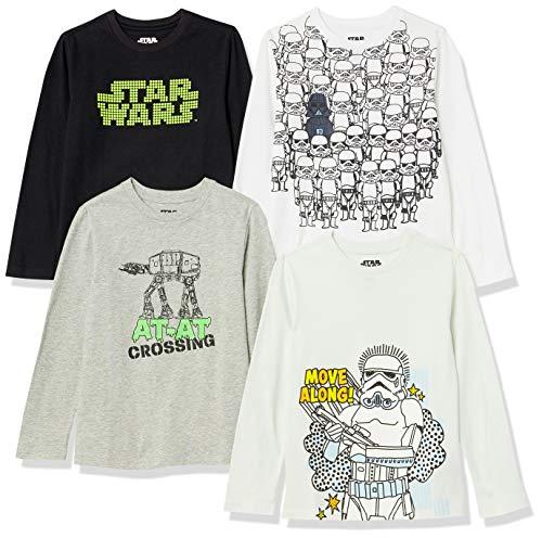 Spotted Zebra Disney Star Wars Marvel Long-Sleeve T-shirt, 4er Pack, Star Wars Storm Troopers, Medium