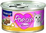 Vitakraft Katzenfutter Nassfutter Poésie Mousse, Geschmack Huhn, 12 x 85g