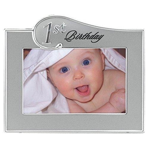 Malden International Designs Cadre photo bicolore pour 1er anniversaire 10 x 15 cm Argenté