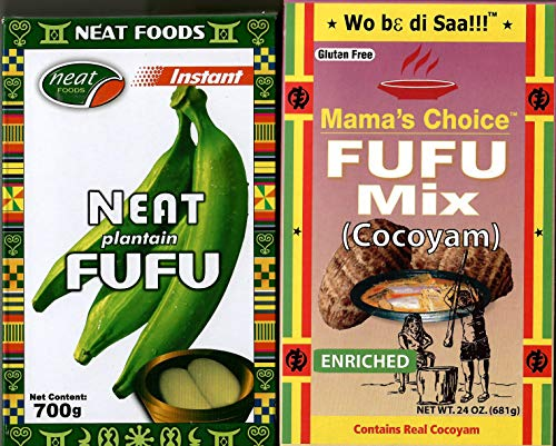 Plantain Fufu Flour (700g) and Cocoyam Fufu Flour (681g) Combination Pack