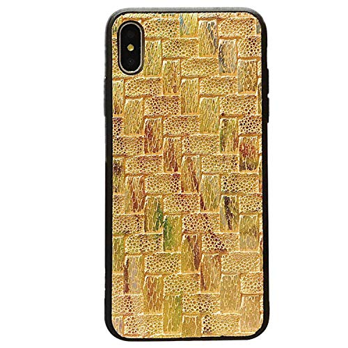 Just Enjoy - Funda trenzada para iPhone 11 X 10 XS Max XR para iPhone 8 Plus, color amarillo