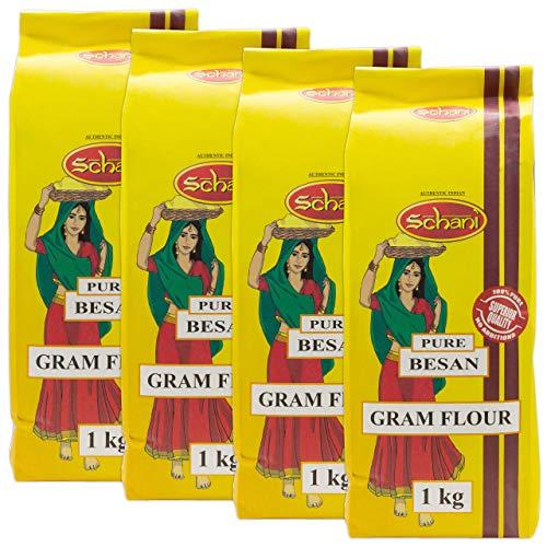 Schani - Gram Flour - Kichererbsenmehl im 4er Set à 1 kg Packung