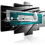 murando Cuadro en Lienzo 100x50 cm Arte - Abstracto Impresión de 5 Piezas Material Tejido no Tejido Impresión Artística Imagen Gráfica Decoracion de Pared Balla a-A-0209-b-p