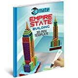 Empire State Building 3D Pen Mat Stencil - Architecture Template Compatible with 3Dmate Base Design Mat